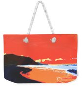 Long Blue Beach Weekender Tote Bag