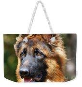 Long Coated German Shepherd Dog Weekender Tote Bag