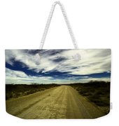 Long Dusty Road In Jal New Mexico  Weekender Tote Bag
