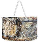 Long Eared Owl Resting Weekender Tote Bag