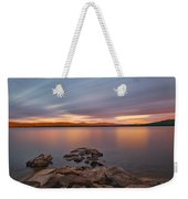 Long Expo Over Connecticut Lake Weekender Tote Bag