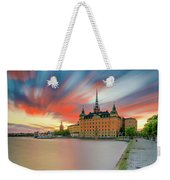 Long Exposure Stockholm Sunset Weekender Tote Bag