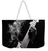 Long Hair Man Playing Guitar Weekender Tote Bag
