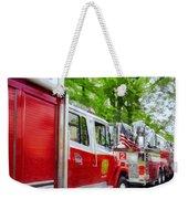 Long Line Of Fire Trucks Weekender Tote Bag