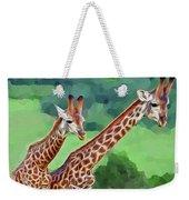 Long Necked Giraffes 2 Weekender Tote Bag