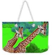 Long Necked Giraffes 3 Weekender Tote Bag