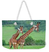 Long Necks Together Weekender Tote Bag