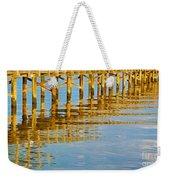 Long Wooden Pier Reflections Weekender Tote Bag