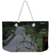 Long Road Weekender Tote Bag