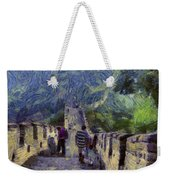 Long Slope Of The Great Wall Of China Weekender Tote Bag