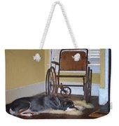 Long Wait - Dog - Wheelchair Weekender Tote Bag