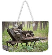 Long Winter Coming - Vintage Wheelbarrow - Casper Wyoming Weekender Tote Bag