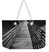 Long Wooden Bridge Weekender Tote Bag by Kelly Hazel