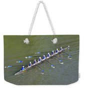 Longboat - Rowing On The Schuylkill River Weekender Tote Bag