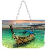 Longboat Sunset Weekender Tote Bag