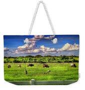 Longhorns At The Ranch Weekender Tote Bag