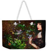 Longing For Springtime Gardens - Texture Weekender Tote Bag