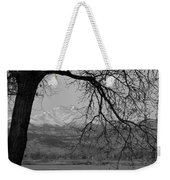 Longs Peak And Mt. Meeker The Twin Peaks Black And White Photo I Weekender Tote Bag by James BO  Insogna