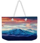 Longs Peak At Sunset Weekender Tote Bag