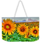 Longs Sunflowers Weekender Tote Bag