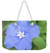 Lonly Blue Flower Weekender Tote Bag