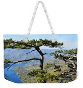 Look At The Pine Trees And The Lake Weekender Tote Bag