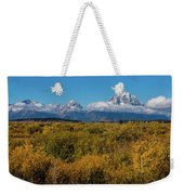 Looking Across Willow Flats To Mt Moran Weekender Tote Bag