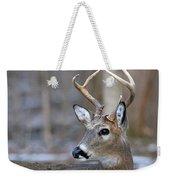 Looking Back Whitetail Deer Weekender Tote Bag
