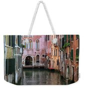 Looking Down A Venice Canal Weekender Tote Bag