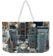 Looking Down At New York Central Park Surounded By Buildings Weekender Tote Bag