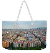 Looking Down On Barcelona From The Sagrada Familia Weekender Tote Bag