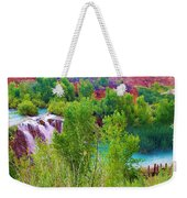 Looking Down On Navajo Falls And Havasu Creek Weekender Tote Bag