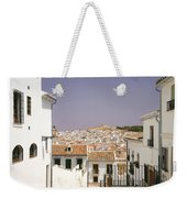 Looking Down Over Antequera  From Near The Church Of Santa Maria La Mayor  Weekender Tote Bag
