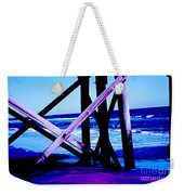 Looking On - Blue Weekender Tote Bag