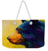 Looking On II - Black Bear Weekender Tote Bag