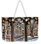 Looking Through An Arched Window At Princeton University At The Courtyard Weekender Tote Bag