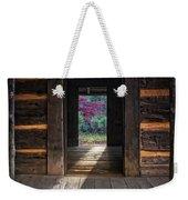 Looking Through John Oliver's Cabin Weekender Tote Bag
