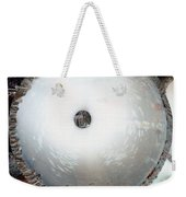 Looking Thru A Pipe...negative Weekender Tote Bag