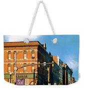 Looking Up Main Street Weekender Tote Bag