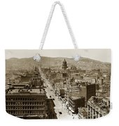 Looking Up Market Street From The Call Building With City Hall Circa 1900 Weekender Tote Bag