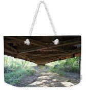 Looking Up Nevins Bridge Indiana Weekender Tote Bag