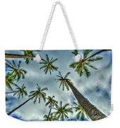 Looking Up The Hawaiian Palm Tree Hawaii Collection Art Weekender Tote Bag