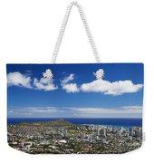 Lookout View Of Honolulu Weekender Tote Bag