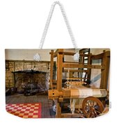 Loom And Fireplace In Settlers Cabin Weekender Tote Bag