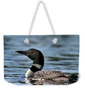 Loon In Blue Waters Weekender Tote Bag
