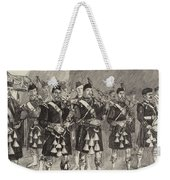 Lord Archibald Campbell And His Pipers Marching Through The Pass Of Glencoe Weekender Tote Bag