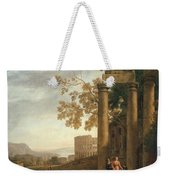 Lorena, Claudio De Chamagne, 1600 - Roma, 1682 Landscape With The Burial Of Saint Serapia Ca. 1639 Weekender Tote Bag
