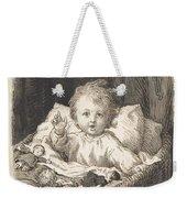 Lorenz Frolich Danish, Copenhagen 1820-1908 Hellerup, Child In A Crib Weekender Tote Bag