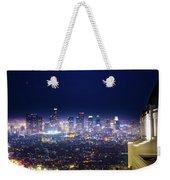 Los Angeles By Night Weekender Tote Bag