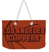 Los Angeles Clippers Leather Art Weekender Tote Bag